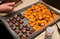 Chocolate Peanut Butter Cheese Crackers