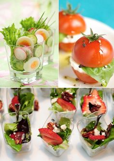 Wedding Food Mini Food Ideas — Wedding Ideas, Wedding Trends, and Wedding Galleries Mini Appetizers, Appetizer Recipes, Healthy Appetizers, Mini Aperitivos, Fingers Food, Think Food, Cooking Recipes, Healthy Recipes, Snacks Für Party
