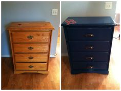 Dresser Re-Do for Dru's baseball room! Go Sox!