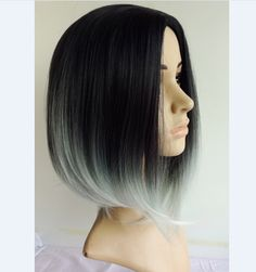short silver ombre - Google Search