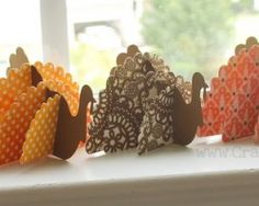 Very cute idea for Thanksgiving decorations