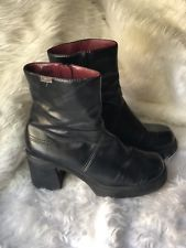 78a95b25bac Women's Black Mudd Boots in Size 7.5 Chunky Heel 90s vintage Goth ...