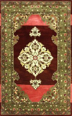 nuLOOM Hand Tufted Wool Berry Juanita Area Rug | Traditional Rugs. home decor, print, design, decor, style, modern, home, house, contemporary, interior design, red, burgundy, gold, yellow.