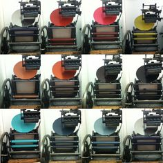 12 colors in 8 hours... letterpress machine