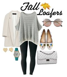 """""""Fall Loafers"""" by kitten89 ❤ liked on Polyvore featuring Zara, Charlotte Olympia, Joe Browns, Olivia Pratt, Kate Spade, Bense Bags and Linda Farrow"""
