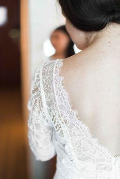 Lace wedding dress: http://www.stylemepretty.com/2014/09/22/whimsical-toronto-restaurant-wedding/   Photography: Olive Photography - http://olivephotography.4ormat.com/