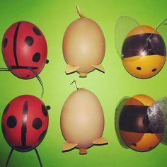 Ladybug, Easter Eggs, Bee, Honey Bees, Bees, Ladybugs