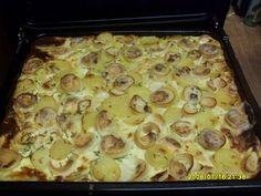 Reteta culinara Garnitura de cartofi frantuzesti cu ciuperci din categoria Aperitive / Garnituri. Specific Romania. Cum sa faci Garnitura de cartofi frantuzesti cu ciuperci