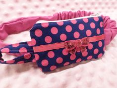 Super-cute polka-dotted #insulinpump case -- complete w/ sequined bow! #type1diabetes