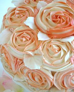 Shabby Chic Rose Cake