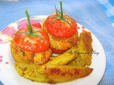 Pomodori  ripieni di riso e bocconcini di pollo