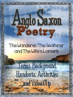 Anglo Saxon Poetry: Background, Terms, Handouts, Activities, and Video Clip Start your school year with this unit and do it right! You will not se. British Literature, World Literature, English Literature, English Teaching Resources, Teaching History, Teaching Literature, Teaching Ideas, Anglo Saxon History, Teaching Poetry