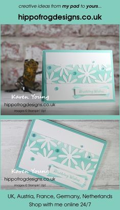 Monochrome Birthday Card. Handmade using Itty Bitty Birthdays Stamp Set, Playing With Patterns DSP, Playing With Patterns Ribbon Combo Pack, Medium Daisy Punch and Artistry Blooms Adhesive-Backed Sequins from Stampin' Up! Visit www.hippofrogdesigns.co.uk for more project ideas. Wishes Images, Class Projects, Project Ideas, Cardmaking, Monochrome, Punch, Adhesive, Stampin Up, Birthday Cards