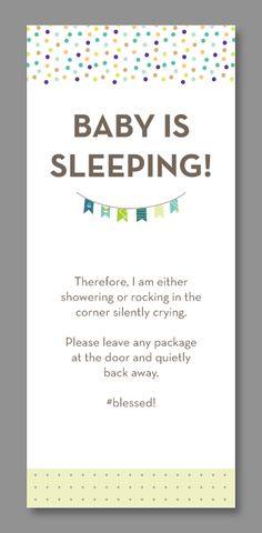 Greatest Funny Do Not Disturb Baby Door Hangers   Hanger, Free printable  NQ34