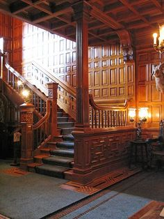 Craigdarroch Castle - Victoria, BC, Canada, they don't make homes like this anymore Victoria Canada, Victoria British Columbia, Canada Vancouver, Victoria Vancouver Island, Hatley Castle, Victorian Interiors, Modern Staircase, Canada Travel, Stairways