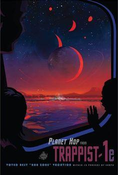 Trappist-1e - JPL Travel Poster