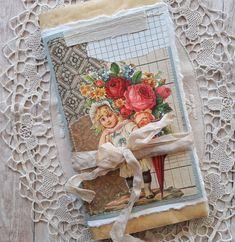 Girl with flowers. Journal Art, Journal Covers, Junk Journal, Music Sheet Paper, Vellum Paper, Girls With Flowers, Handmade Journals, Vintage Music, Rice Paper