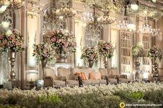 Gary and Sylvia's wedding reception Wedding Backdrop Design, Wedding Stage Design, Wedding Hall Decorations, Wedding Reception Backdrop, Wedding Themes, Wedding Designs, Wedding Cake, Lotus Design, Javanese Wedding