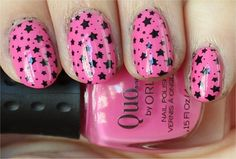 Pink With Black Stars