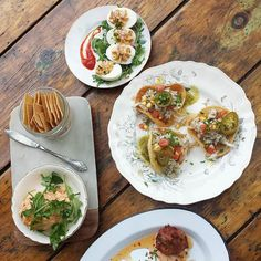 Sampled these beauties off @jacobysatx's delicious snack menu today. Enjoy with tasty drinks on the gorgeous back patio and you have a perfect Austin happy hour!