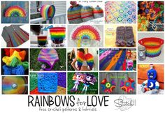 Rainbows for Love -Free Crochet Patterns and Other Rainbow Tutorials
