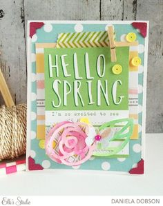 ~ hello spring ~ by Daniela using the Elle's Studio exclusive kit for March