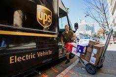 UPS electric delivery van / vehicle