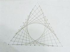 How to Create Parabolic Curves Using Straight Lines « Math Craft :: WonderHowTo String Art Tutorials, String Art Patterns, Math Crafts, Nail String Art, Spirograph, Math Art, High School Art, Middle School, Geometry Art