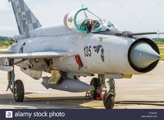 Download this stock image: MiG-21 aircraft - FYARJE from Alamy's library of millions of high resolution stock photos, illustrations and vectors.