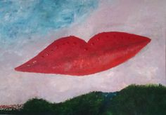 """""""Kiss"""" by AbstrART #painting, #acryl, #abstract, #red"""