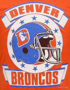 80s Denver Broncos Pictures | Vintage 80's Denver Broncos football t shirt M by retropopmanila