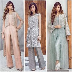 These gorgeous pieces by are perfect for any winter soirées or late dinners; Pakistani Fancy Dresses, Pakistani Fashion Party Wear, Pakistani Dress Design, Pakistani Outfits, Indian Fashion, Shadi Dresses, Indian Gowns Dresses, Dress Pesta, Edgy Dress