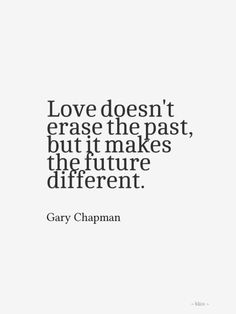 Love doesn't erase the past...