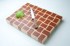 Woven Maple & Cherry End Grain Cutting Board