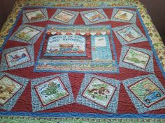 Child's quilt, made and quilted by Sue.