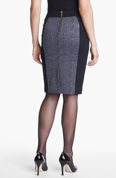 Free shipping and returns on MICHAEL Michael Kors Colorblock Ponte Skirt at Nordstrom.com. For color blocking at its flattering best, solid-black side panels visually streamline a herringbone-patterned ponte skirt with a sleek stretch fit. Goldtone zippers punctuate the look.