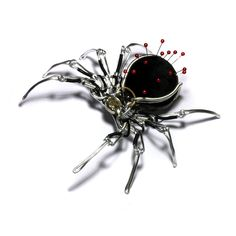 Steampunk accessories. Steampunk Spider Pin Cushion by CatherinetteRings