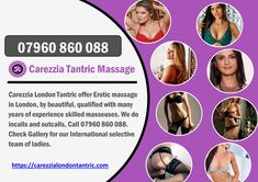 Carezzia London Tantric offer Erotic massage in London, by beautiful, qualified with many years of experience skilled masseuses.