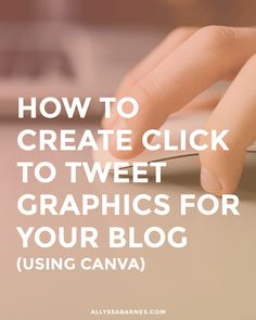 Learn how to create Click to Tweet graphics for your blog with this quick and easy tutorial.