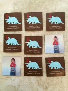 Get the kids in on the fun for any festive holiday by creating a picture matching game. Kary used personalized stickers from Tiny Prints