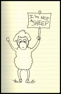 365 Days in Scribbles: I'm not a sheep
