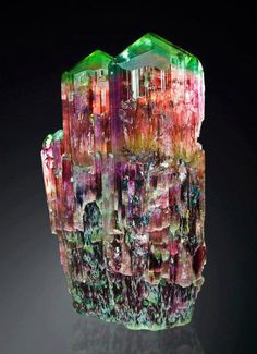 This is the most gorgeous Rainbow Tourmaline that I have ever seen! Get in my crystal collection bag now!!
