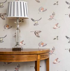 Last month's best seller - Our Early Bird wallpaper in colourway 1. #wallpaper #wallcovering #birds #drawing #illustration #albion #british #design #detail #home #interiors #inspiration #interiordesign #homedecor