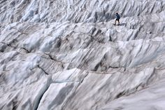 On the eastern side of the tourist town of Zermatt, two big glaciers fall on either side of Monte Rosa, the highest mountain in Switzerland and the second-highest in both the Alps and western Europe. One, the 14-kilometre-long Gorner Glacier, is home to a massive 'moulin' ice cave system.