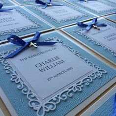 AMAURA designs handmade christening invitations
