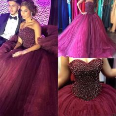 I found some amazing stuff, open it to learn more! Don't wait:http://m.dhgate.com/product/new-fuchsia-ball-gown-tulle-beaded-burgundy/394573683.html