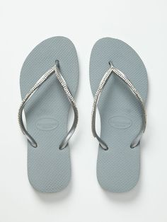 2735cf21b39f02 Customized Crystal Applique Flip Flops by Havaianas at Gilt