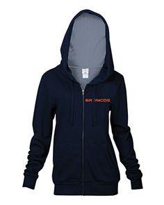 Women's Denver Broncos Junk Food Navy Champion Fleece Sweatshirt