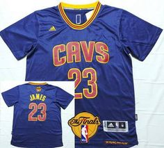 90c4014a104cc1 Men s Cleveland Cavaliers LeBron James 2016 The NBA Finals Patch Navy Blue  Short-Sleeved Jersey