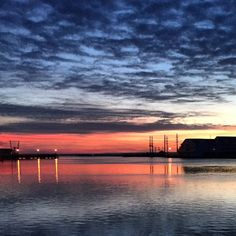 """""""Tonight's afterglow. #Chincoteague #Virginia Photo by Ally Little  iPhone"""""""